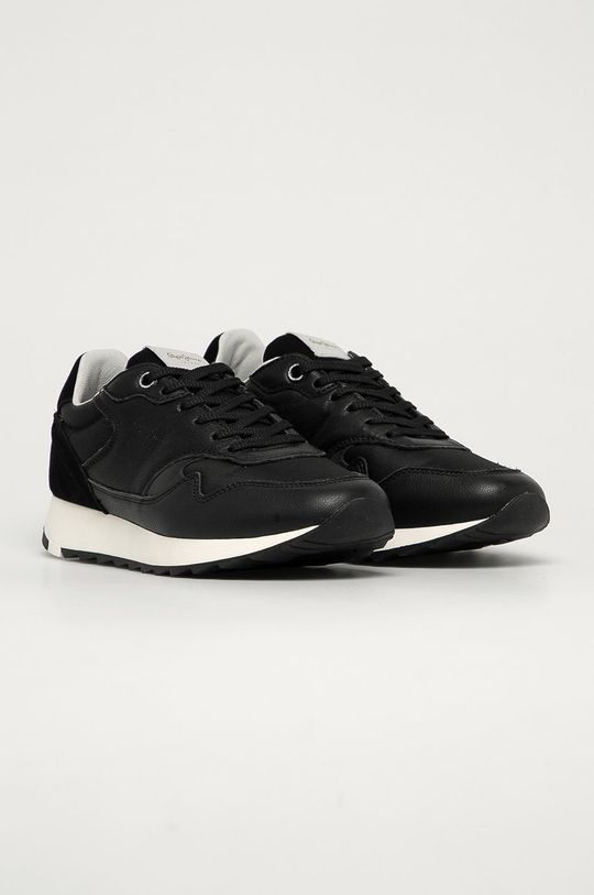 Pepe Jeans - Kožená obuv Slab Urban čierna