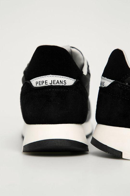 Pepe Jeans - Kožená obuv Slab Urban  Zvršok: Prírodná koža Vnútro: Syntetická látka, Textil Podrážka: Syntetická látka