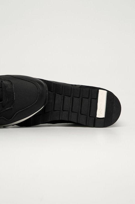 čierna Pepe Jeans - Kožená obuv Slab Urban