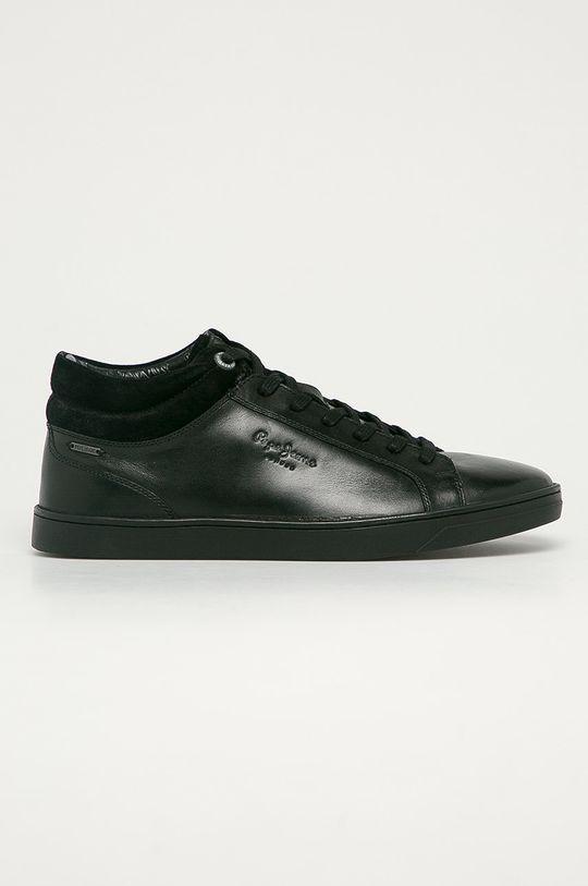 čierna Pepe Jeans - Kožená obuv DOC LTH Pánsky
