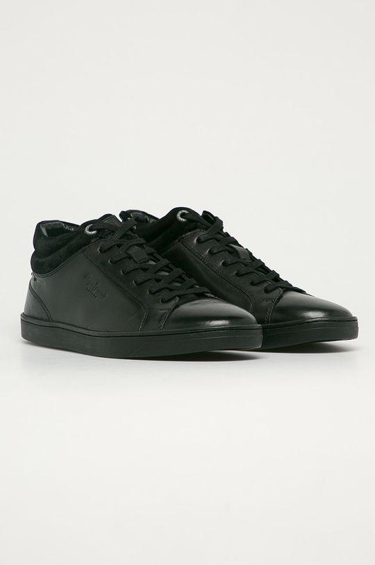 Pepe Jeans - Kožená obuv DOC LTH čierna