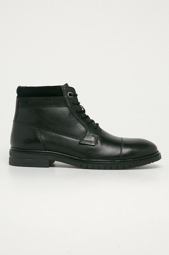 negru Pepe Jeans - Pantofi inalti de piele Thomas Flex Lth De bărbați