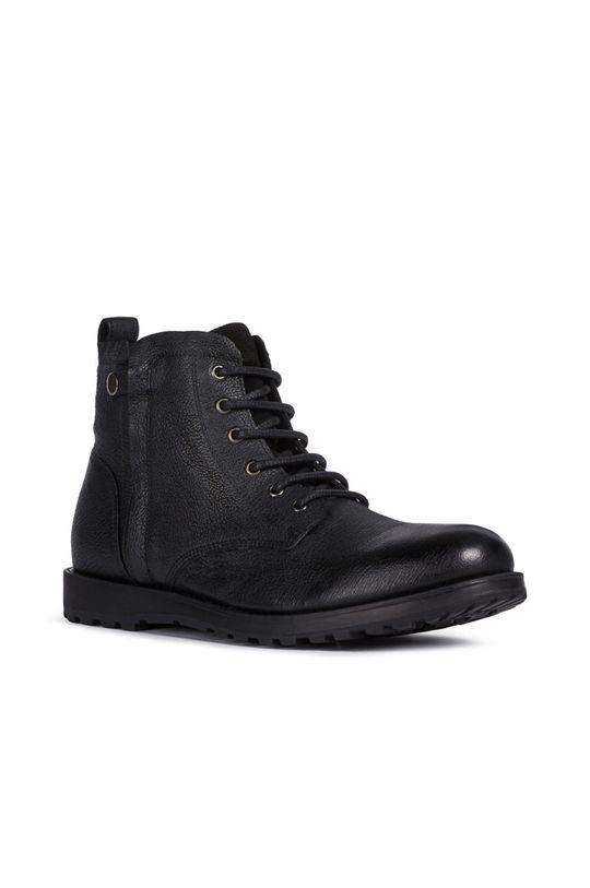 černá Geox - Kožené boty Pánský