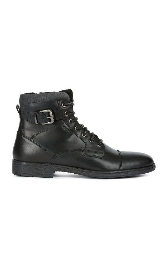 černá Geox - Kotníkové boty Pánský