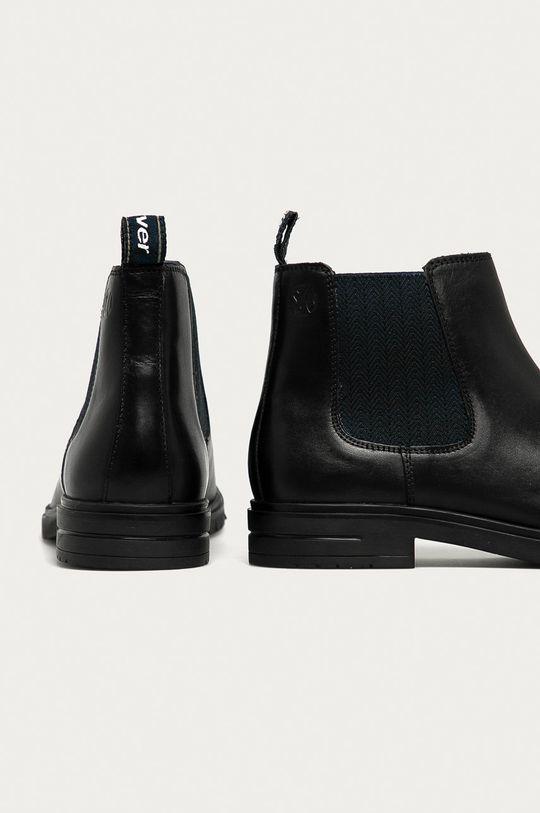 s. Oliver - Kožené kotníkové boty  Svršek: Přírodní kůže Vnitřek: Textilní materiál, Přírodní kůže Podrážka: Textilní materiál