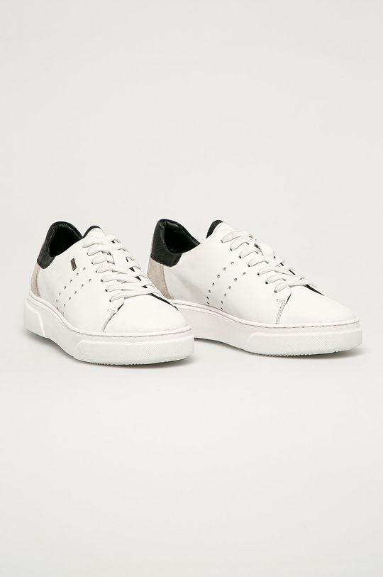 s. Oliver - Детские кожаные кроссовки белый
