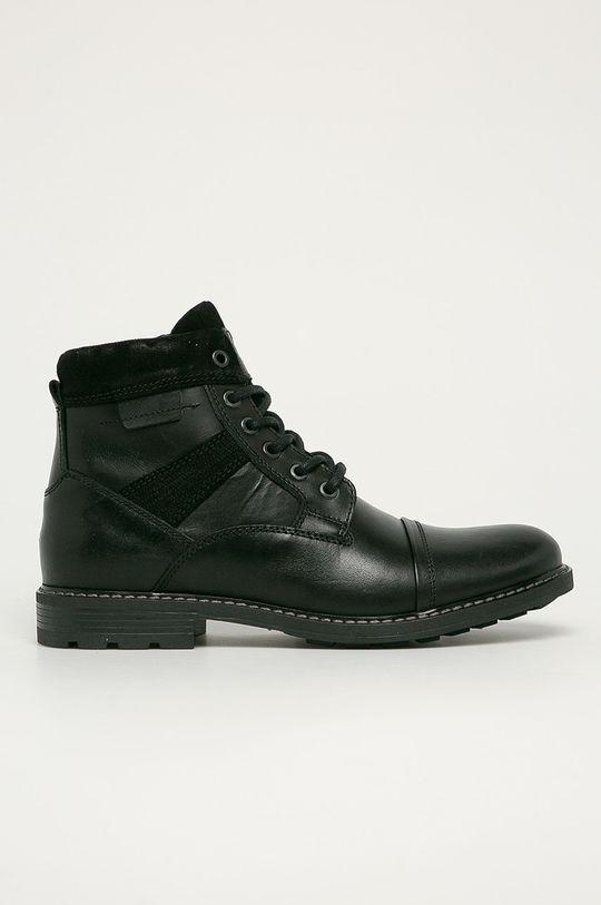 černá Aldo - Kožené boty Lovenarwen Pánský