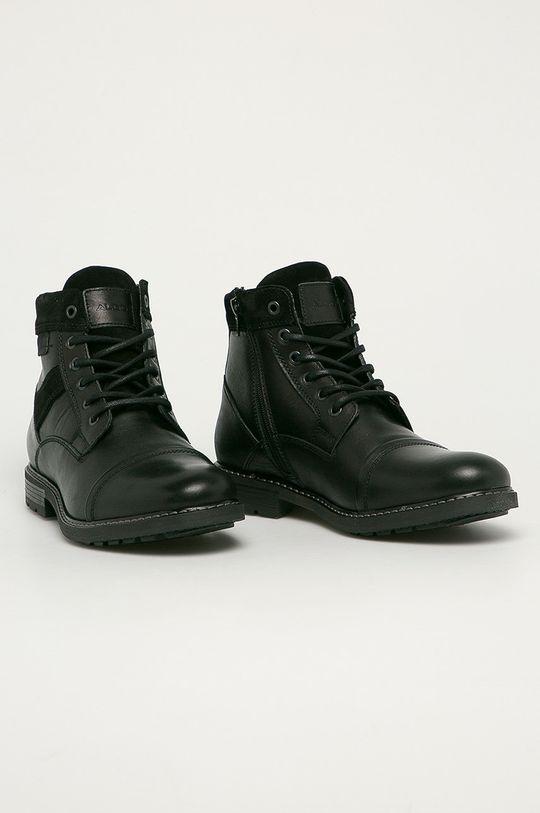Aldo - Kožené boty Lovenarwen černá
