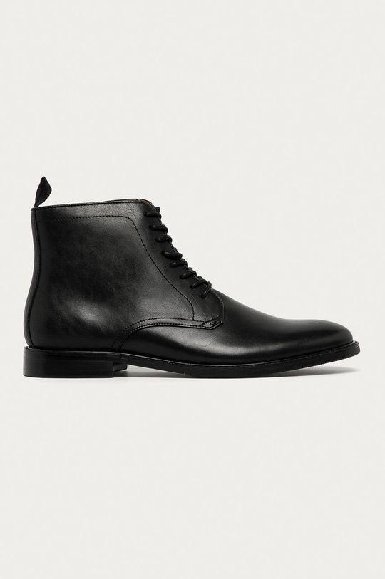černá Aldo - Kožené boty Mirenarwen Pánský