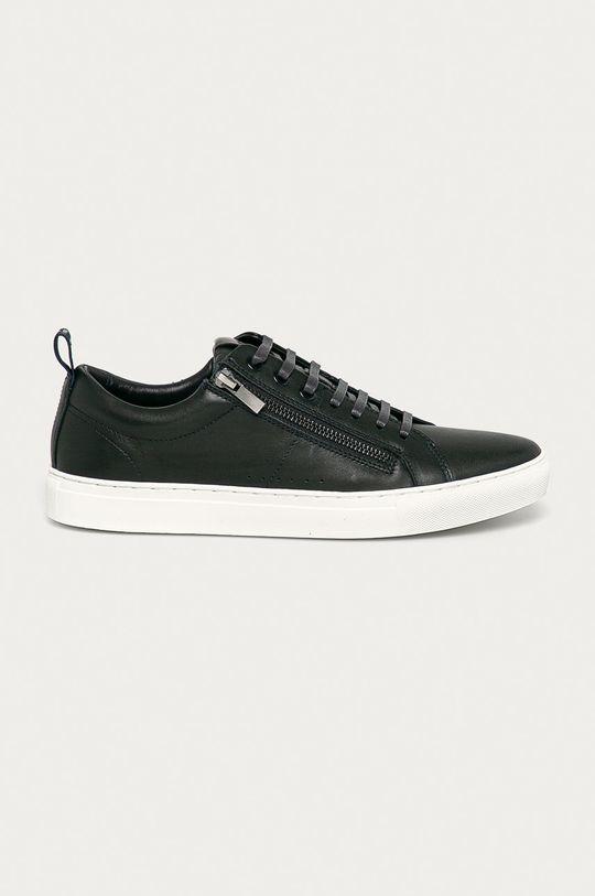 námořnická modř Hugo - Kožené boty Pánský