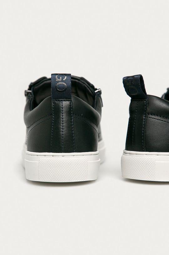námořnická modř Hugo - Kožené boty