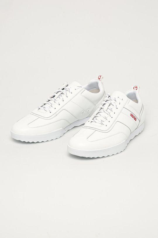 Hugo - Kožené boty bílá