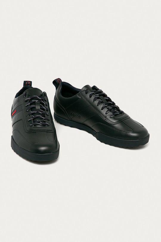 Hugo - Kožené boty námořnická modř