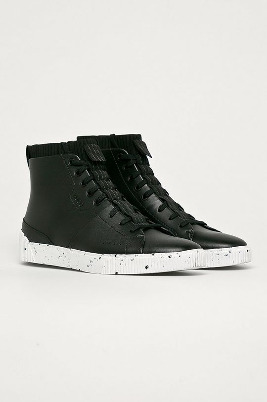 Hugo - Bőr cipő fekete