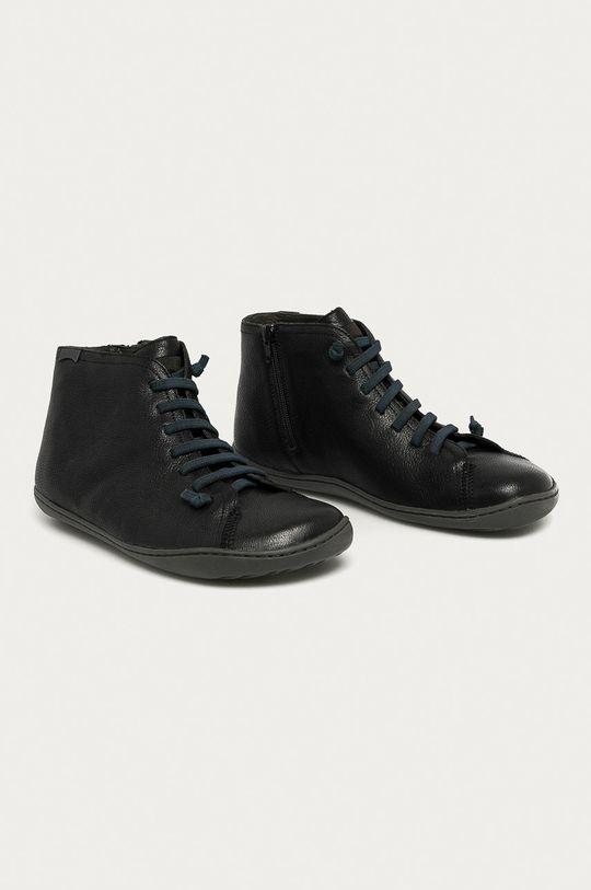 Camper - Kožená obuv Peu Cami čierna