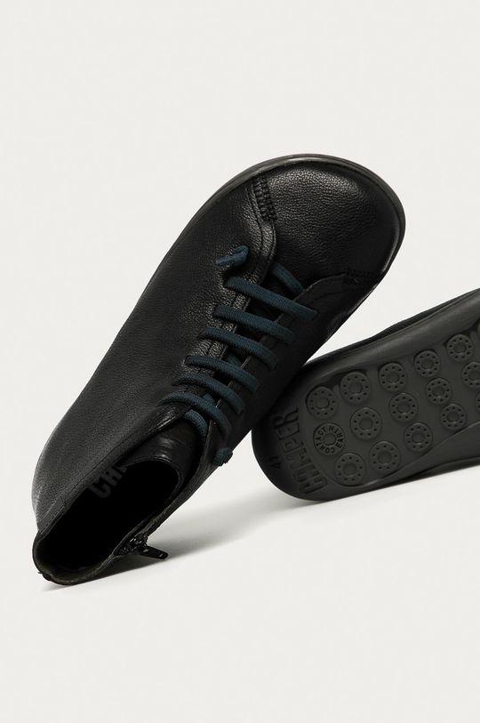 čierna Camper - Kožená obuv Peu Cami