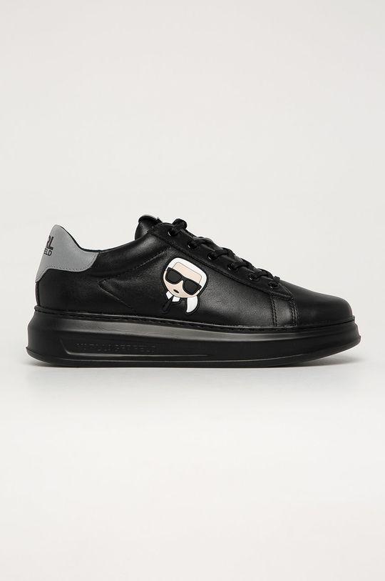 čierna Karl Lagerfeld - Kožená obuv Pánsky
