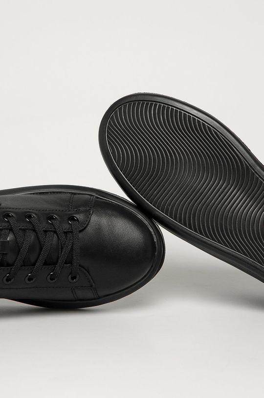 čierna Karl Lagerfeld - Kožená obuv