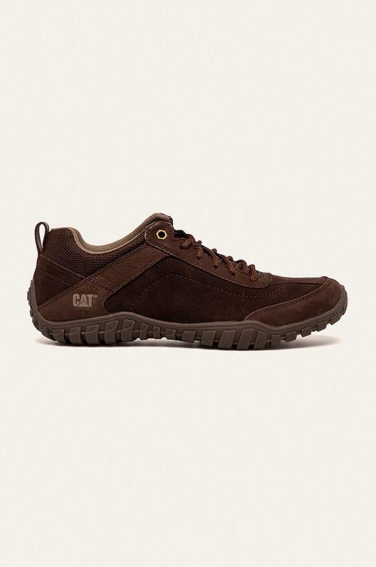 maro inchis Caterpillar - Pantofi de piele Arise Lace UP De bărbați