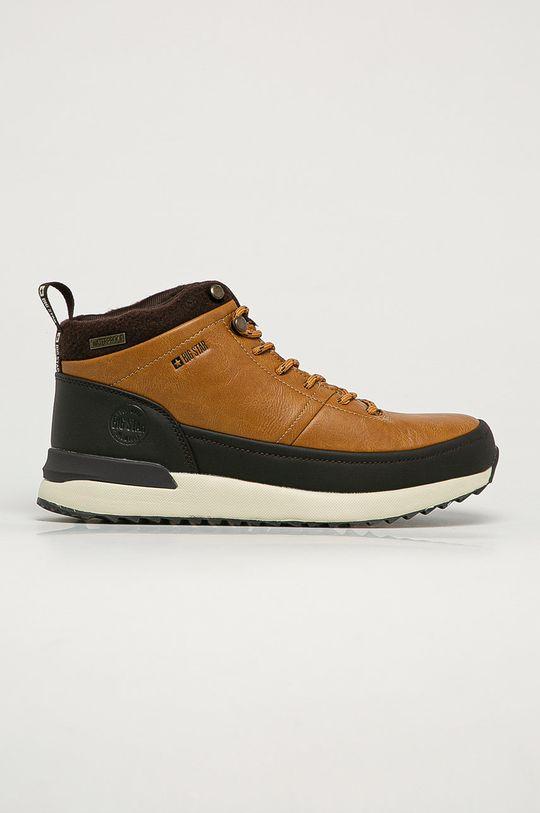 zlatohnedá Big Star - Členkové topánky GG174561 Pánsky