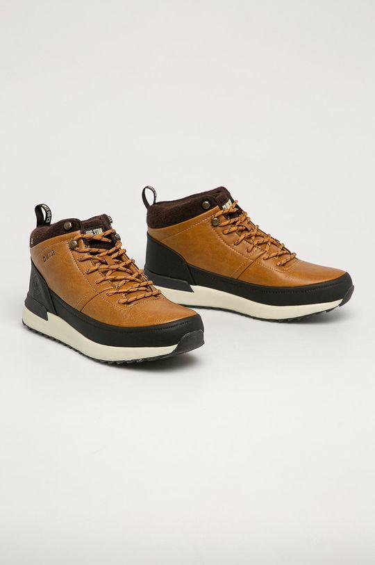 Big Star - Členkové topánky GG174561 zlatohnedá