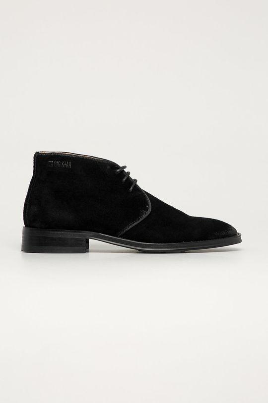 negru Big Star - Pantofi de piele intoarsa De bărbați