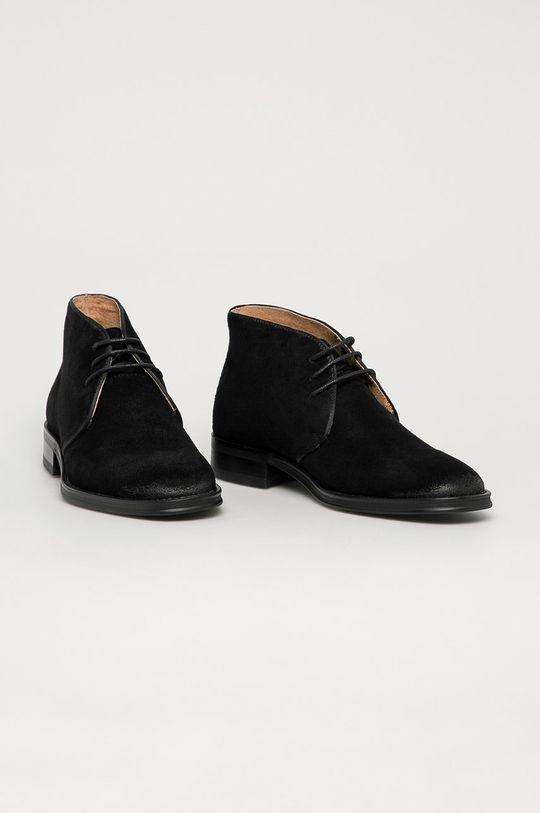 Big Star - Pantofi de piele intoarsa negru