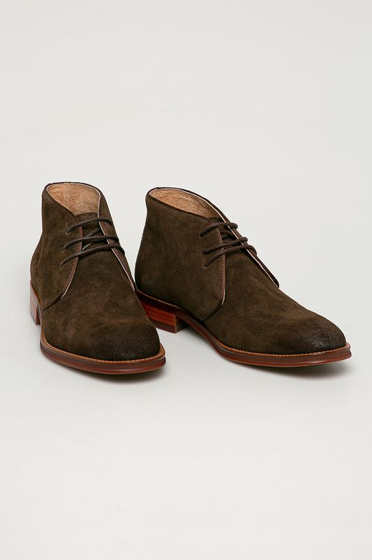Big Star - Semišové topánky hnedá