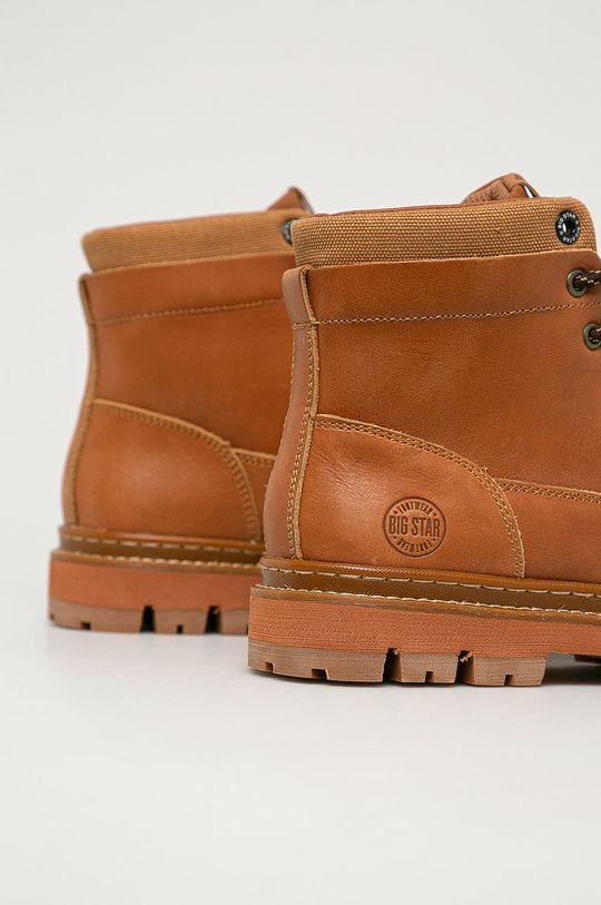 Big Star - Kožené členkové topánky  Zvršok: Prírodná koža Vnútro: Textil Podrážka: Syntetická látka