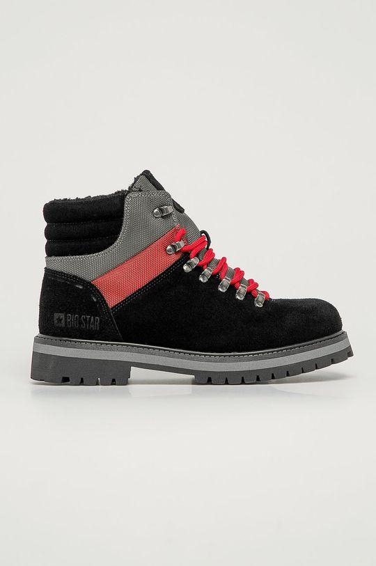 čierna Big Star - Členkové topánky Pánsky