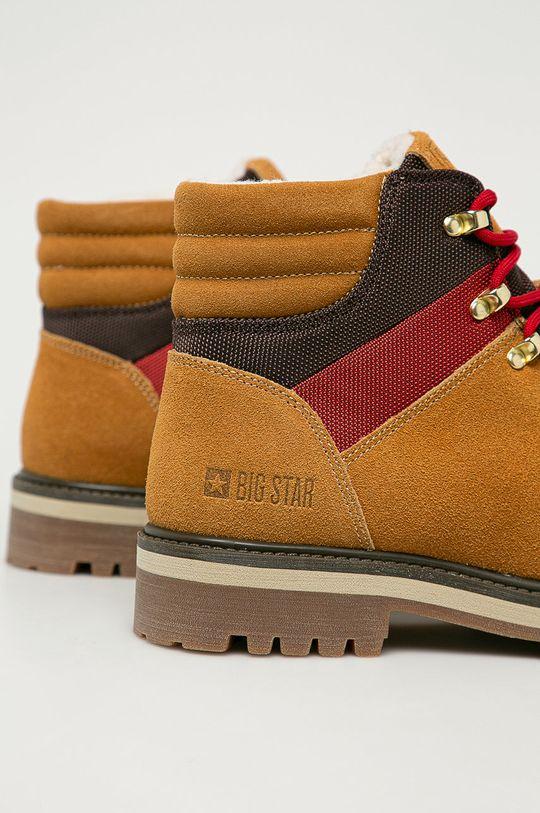 Big Star - Semišové členkové topánky  Zvršok: Textil, Semišová koža Vnútro: Textil Podrážka: Syntetická látka