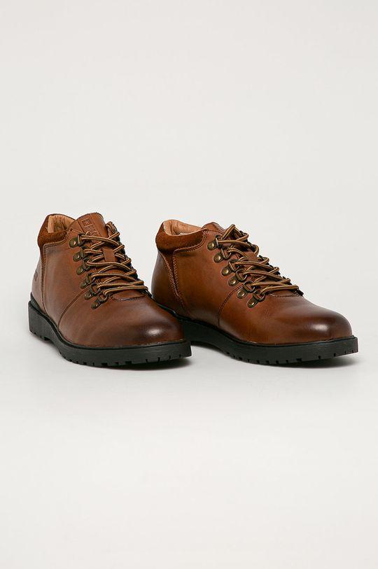 Big Star - Kožená obuv tmavohnedá