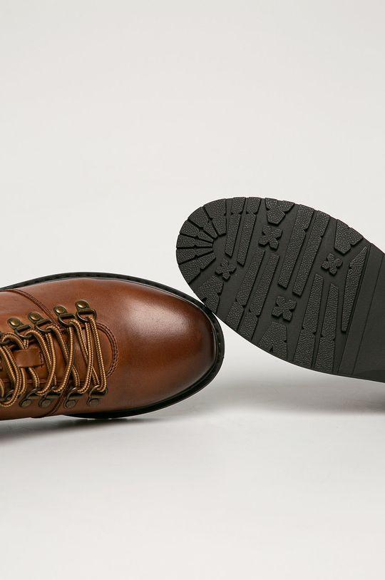tmavohnedá Big Star - Kožená obuv