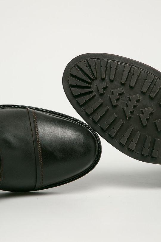 tmavě hnědá Mustang - Kožené boty