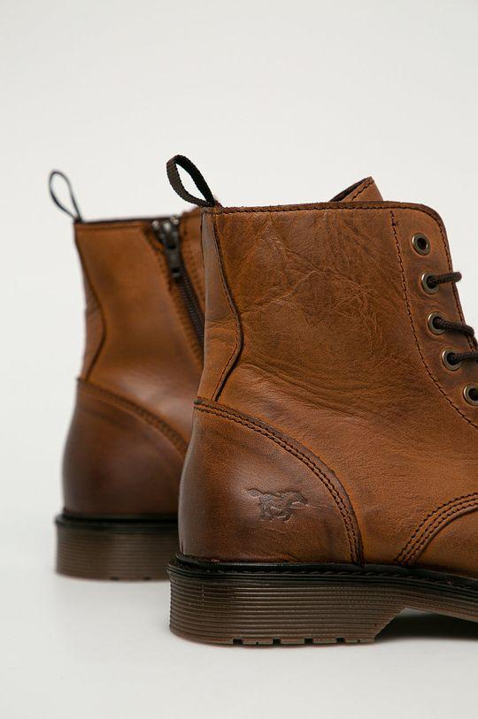 Mustang - Kožené topánky  Zvršok: Prírodná koža Vnútro: Textil, Prírodná koža Podrážka: Syntetická látka