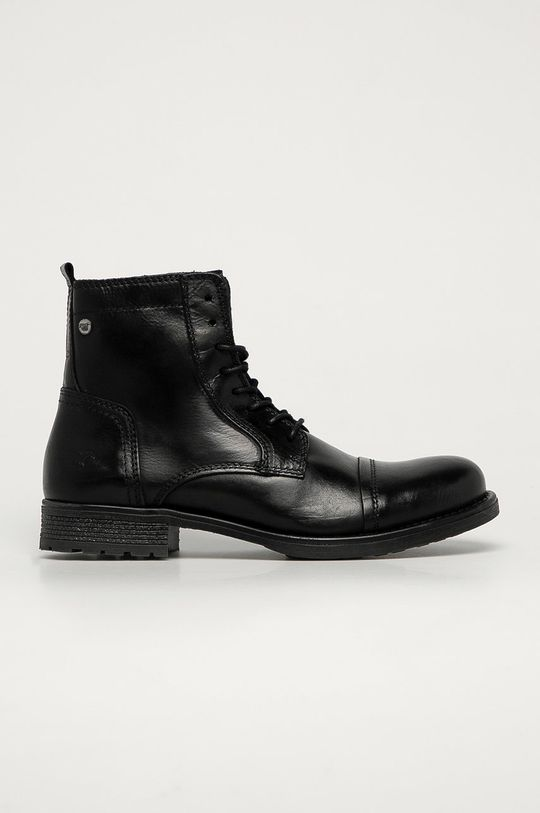 černá Mustang - Kožené boty Pánský