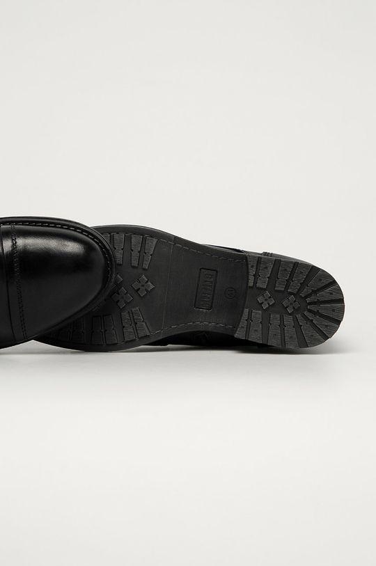 černá Mustang - Kožené boty