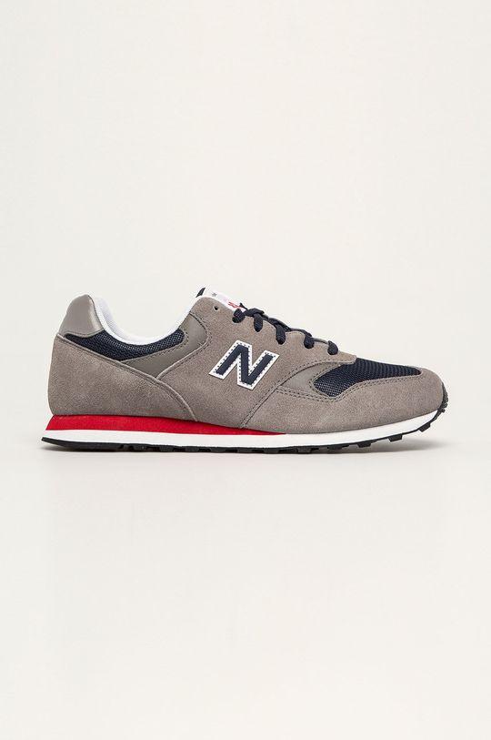 sivá New Balance - Topánky ML393SH1 Pánsky