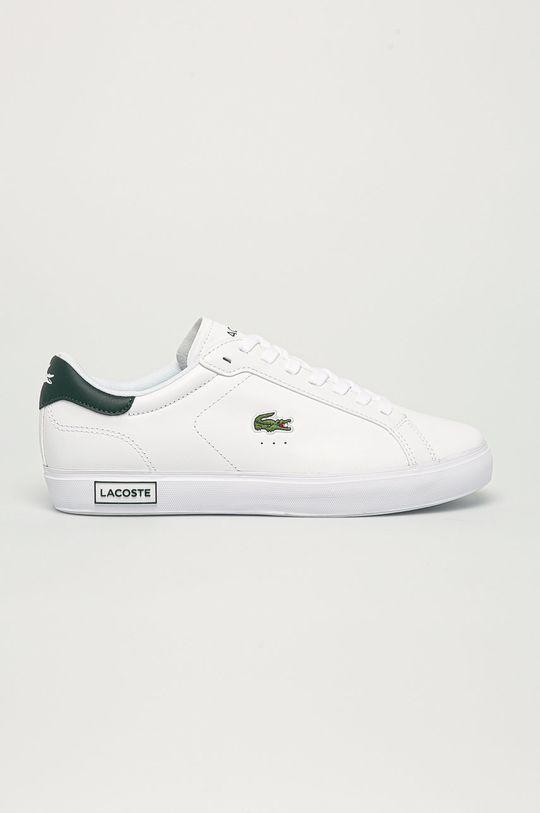 biela Lacoste - Kožená obuv Powercourt Pánsky