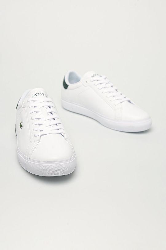 Lacoste - Kožená obuv Powercourt biela