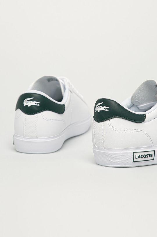 Lacoste - Kožená obuv Powercourt  Zvršok: Prírodná koža Vnútro: Textil Podrážka: Syntetická látka
