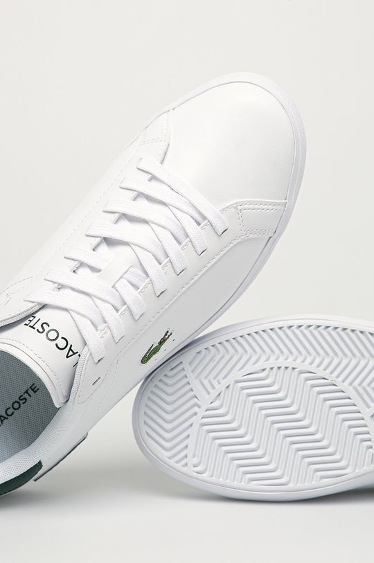 biela Lacoste - Kožená obuv Powercourt