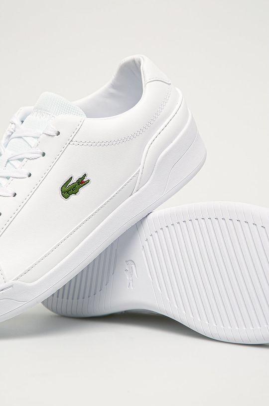 biela Lacoste - Kožená obuv Challenge 01020 2 SMA