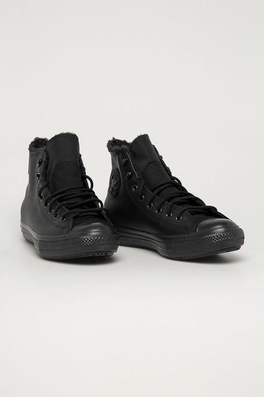 Converse - Kožené tenisky čierna
