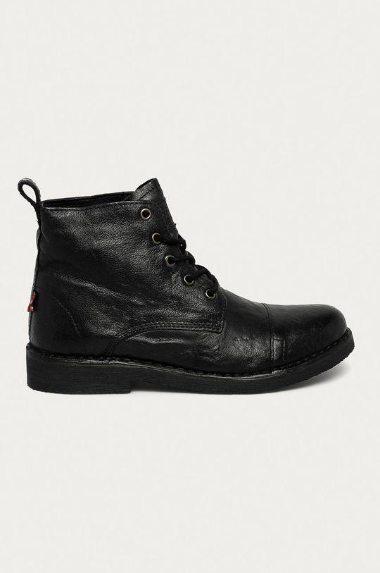 negru Levi's - Pantofi inalti de piele De bărbați