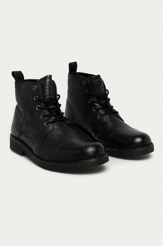 Levi's - Pantofi inalti de piele negru