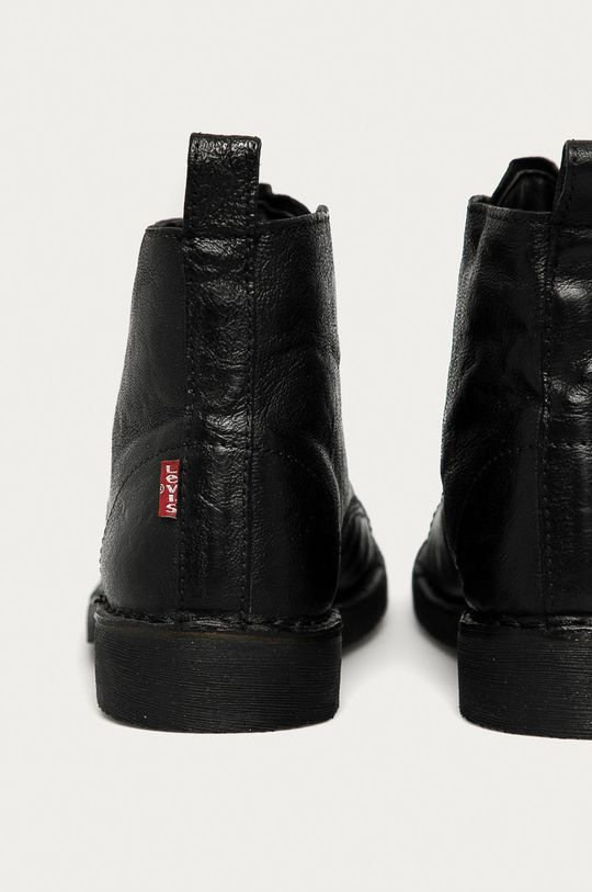 negru Levi's - Pantofi inalti de piele