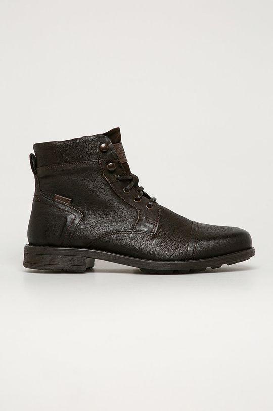 maro inchis Levi's - Pantofi inalti de piele De bărbați