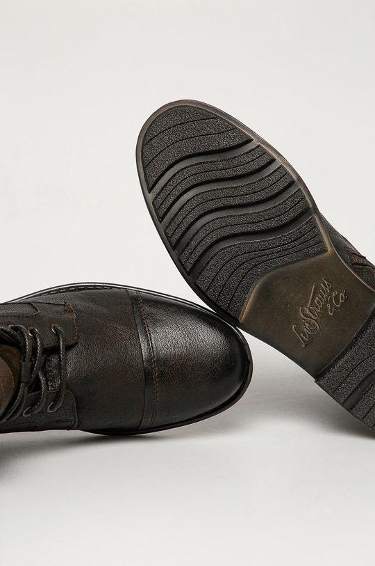maro inchis Levi's - Pantofi inalti de piele