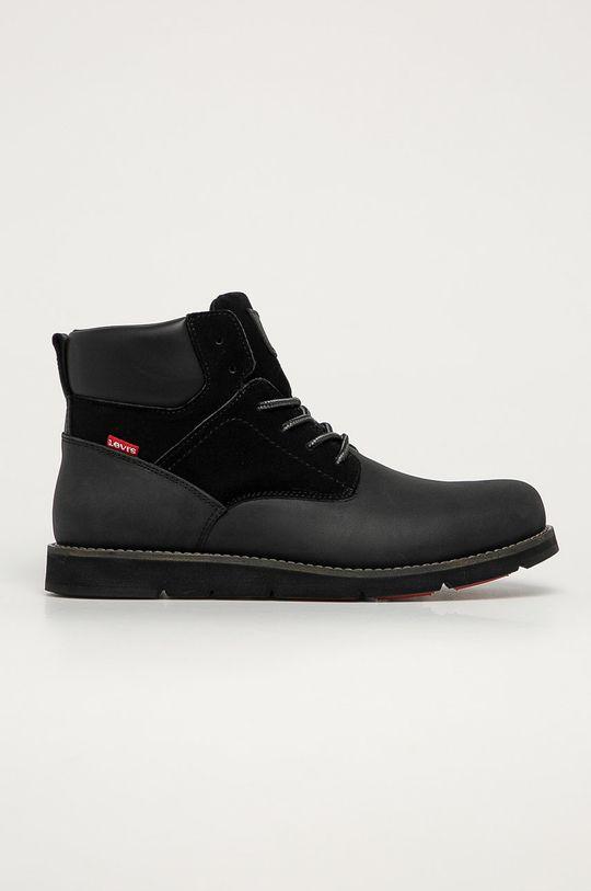 čierna Levi's - Kožená obuv Pánsky